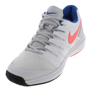 Women`s Air Zoom Prestige Tennis Shoes White and Hot Lava