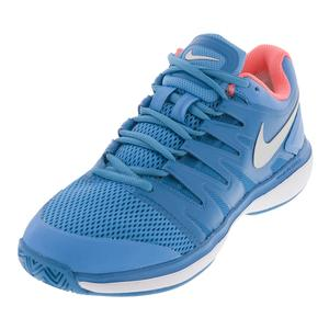 Women`s Air Zoom Prestige Tennis Shoes Light Blue Fury and Neo Turq