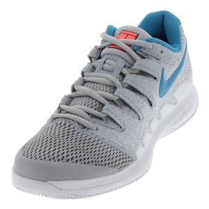 Women`s Air Zoom Vapor X Tennis Shoes Wolf Gray and White