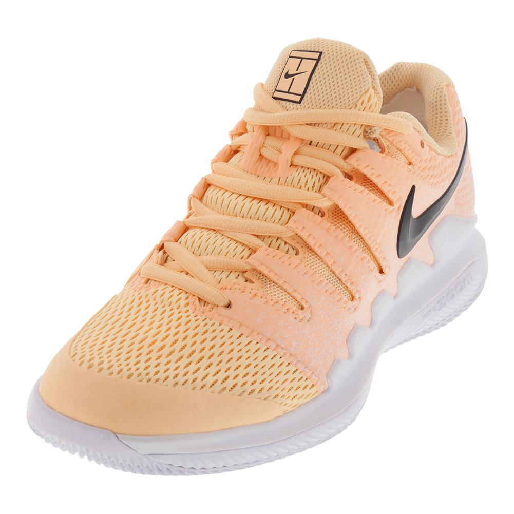 Women's Air Zoom Vapor 10 Tennis Shoes Tangerine Tint And White