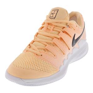 Women`s Air Zoom Vapor 10 Tennis Shoes Tangerine Tint and White