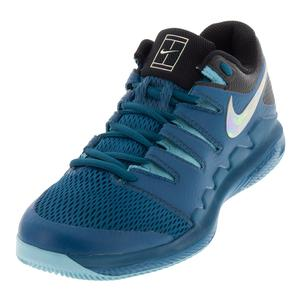 Men`s Air Zoom Vapor 10 Tennis Shoes Green Abyss and Bleached Aqua