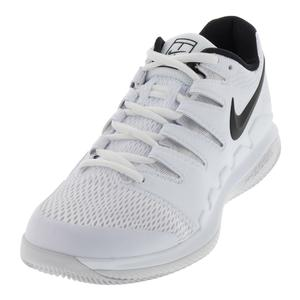 Women`s Air Zoom Vapor 10 Wide Tennis Shoes White and Vast Gray