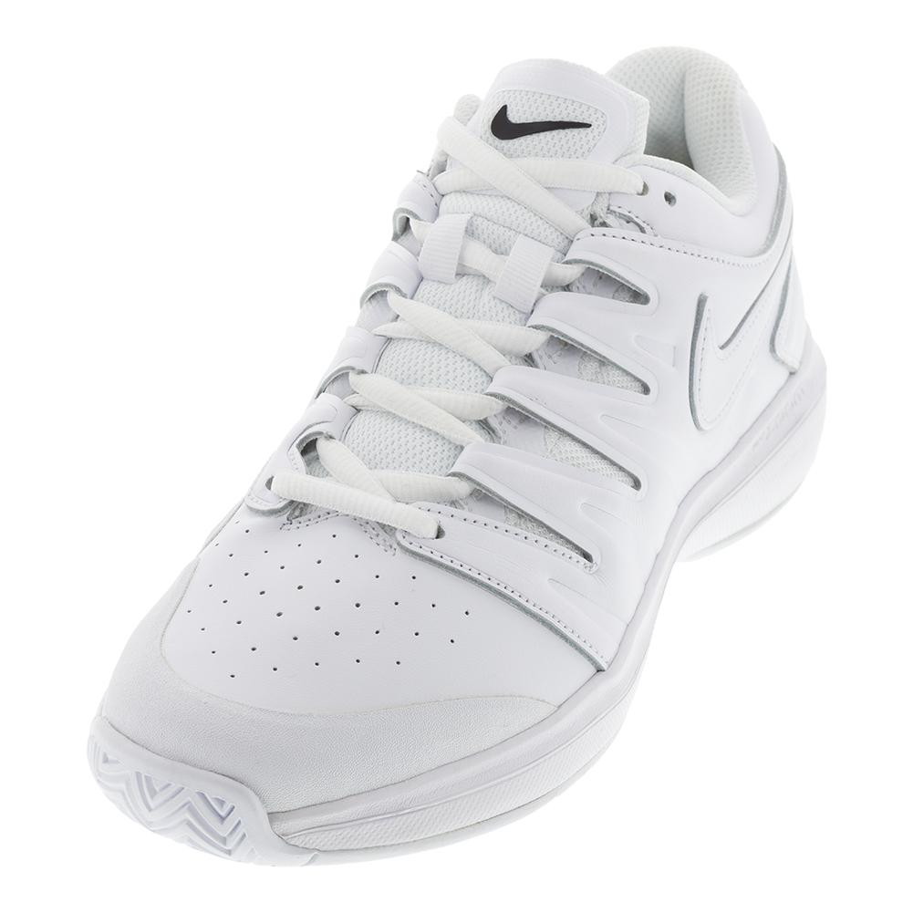 04bf90ac2ca Nike Men s Air Zoom Prestige Leather Tennis Shoes (White Black)