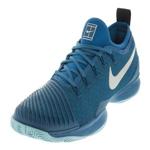 Juniors` Air Zoom Ultra React Tennis Shoes Green Abyss and Blue Force
