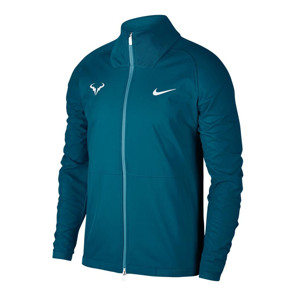Men's Rafa Court Tennis Jacket Green Abyss