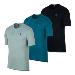 Men`s Court Short Sleeve Tennis Henley