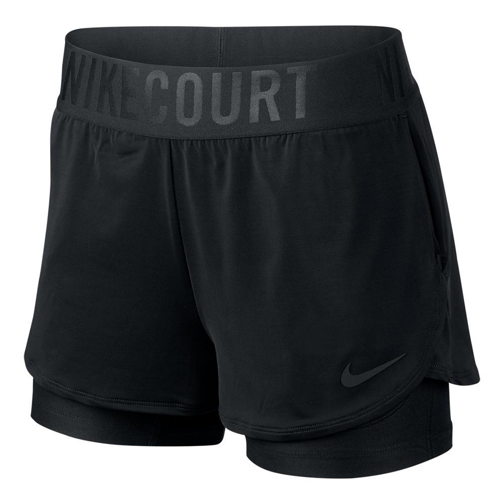 Women's Court Dry Ace Tennis Short Black