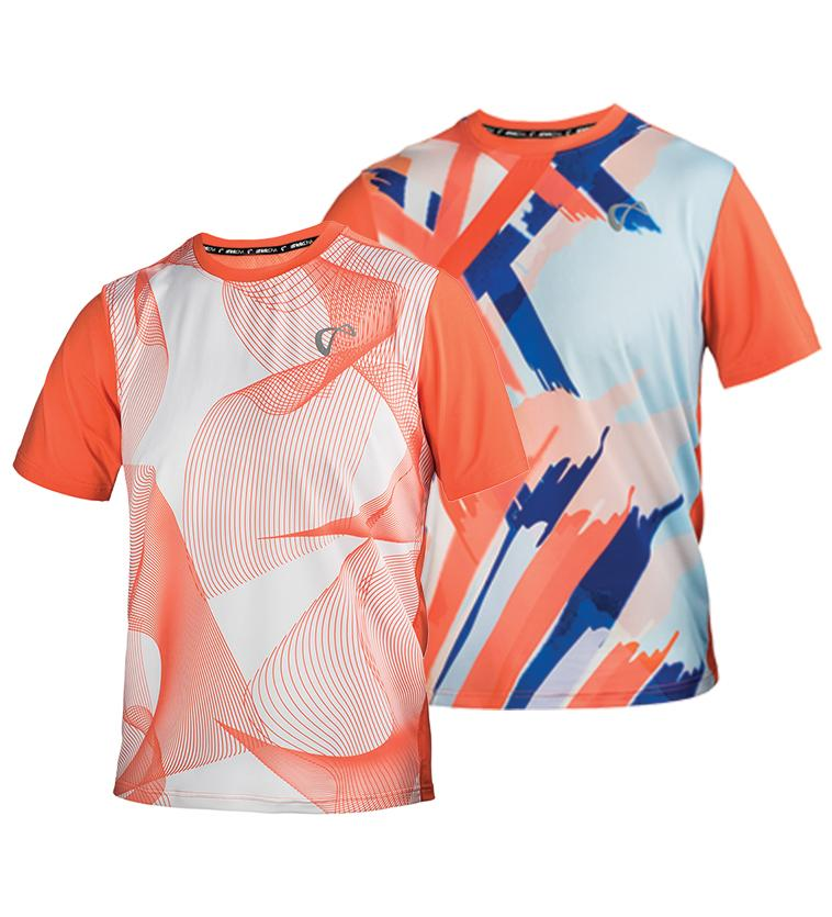 Men's Mesh Yolk Short Sleeve Tennis Crew