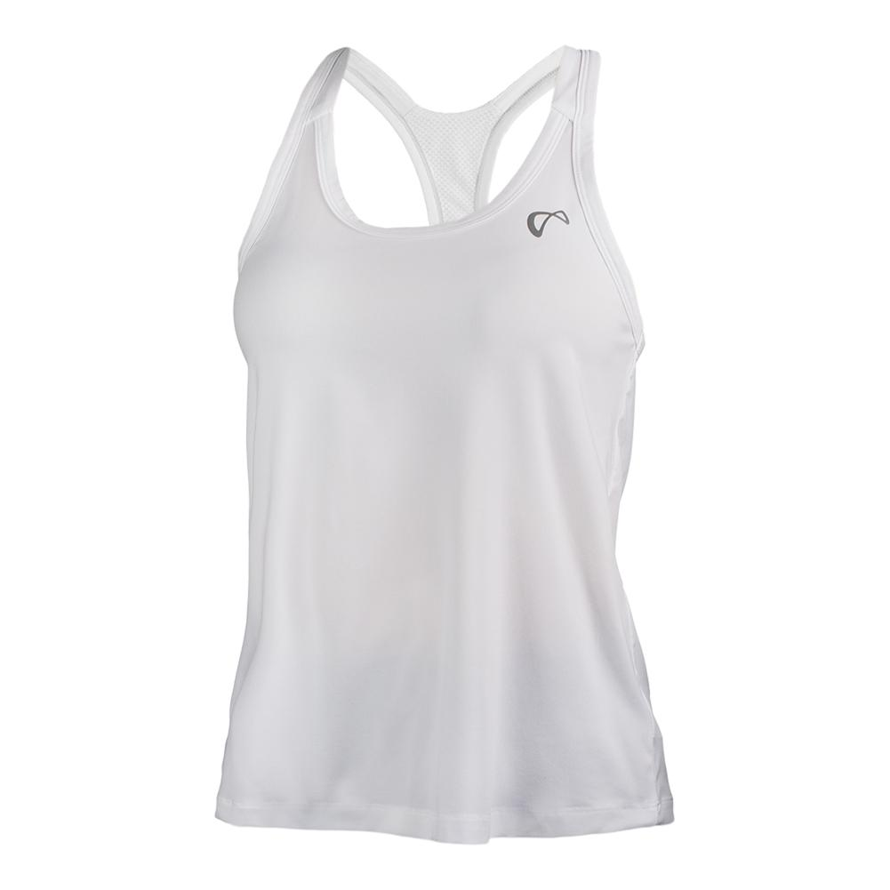 Women's Racerback Tennis Tank White