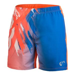 Men`s Tiger Claw Woven Tennis Short Blaze Orange