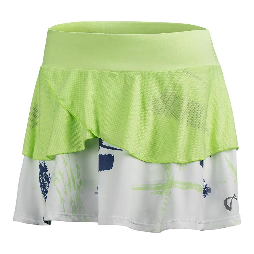 Women's Art Brush Tennis Skort Paradise Green