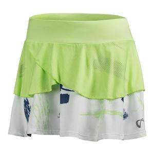 Women`s Art Brush Tennis Skort Paradise Green