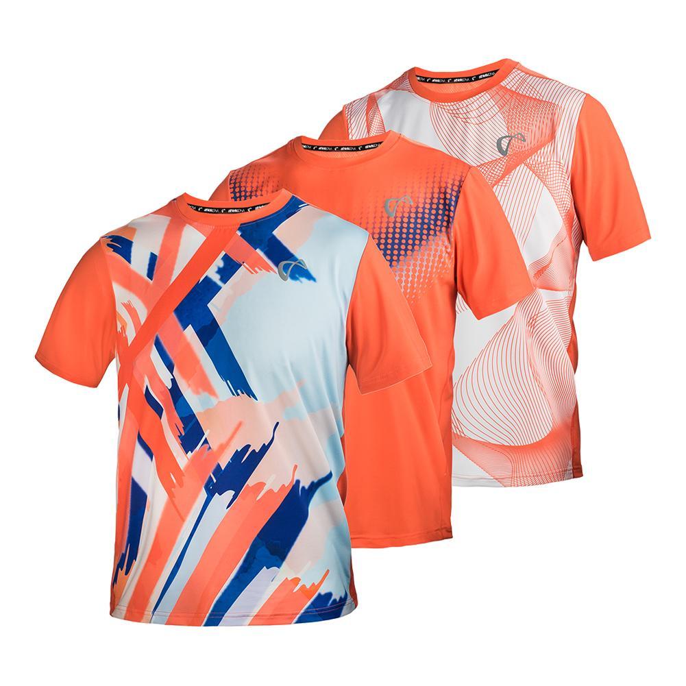 Boys ` Mesh Yoke Short Sleeve Tennis Crew