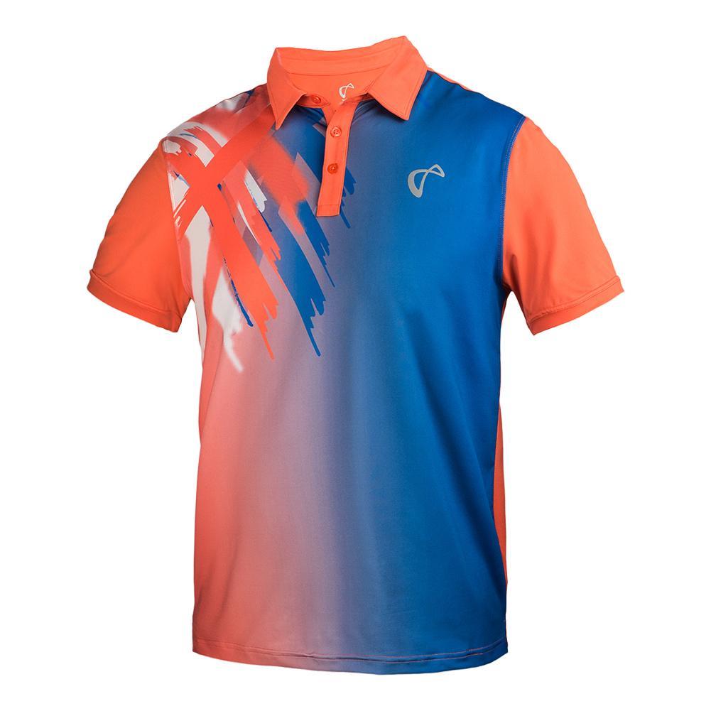 Boys ` Tiger Claw Tennis Polo Blaze Orange