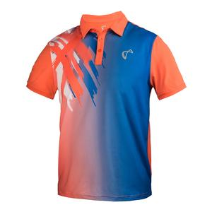 Boys` Tiger Claw Tennis Polo Blaze Orange