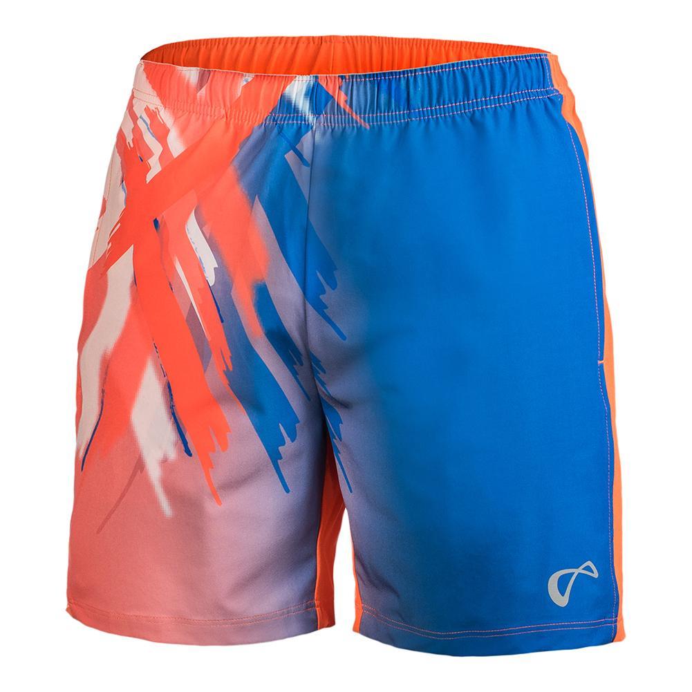 Boys ` Tiger Claw Tennis Short Blaze Orange