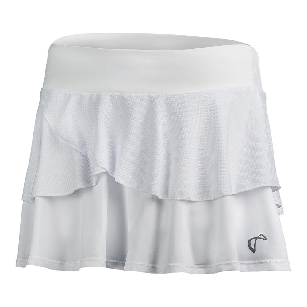 Girls ` Tennis Skort White