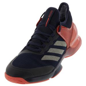 Men`s Adizero Ubersonic 2.0 Tennis Shoes Night Navy and Ecru Tint