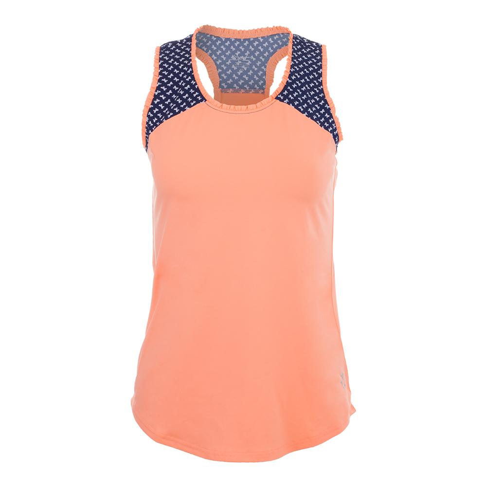 Women's Ingrid Tennis Tank Papaya