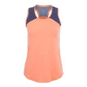 Women`s Ingrid Tennis Tank Papaya