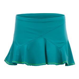 Women`s Ricochet Flounce Tennis Skort Aquamarine