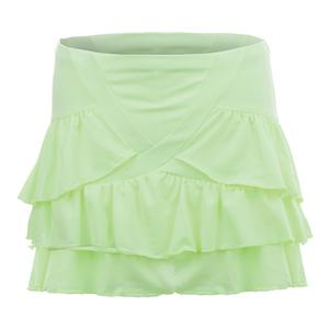 Women`s Long Rush Tennis Skort Lemon Frost