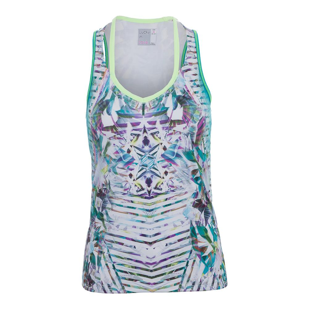 Women's Cutout Tennis Tank Haviana Print