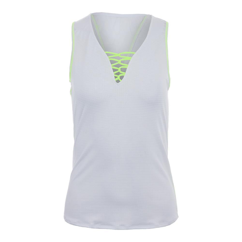 Women's Harmony Laced Tennis Tank Lemon Frost