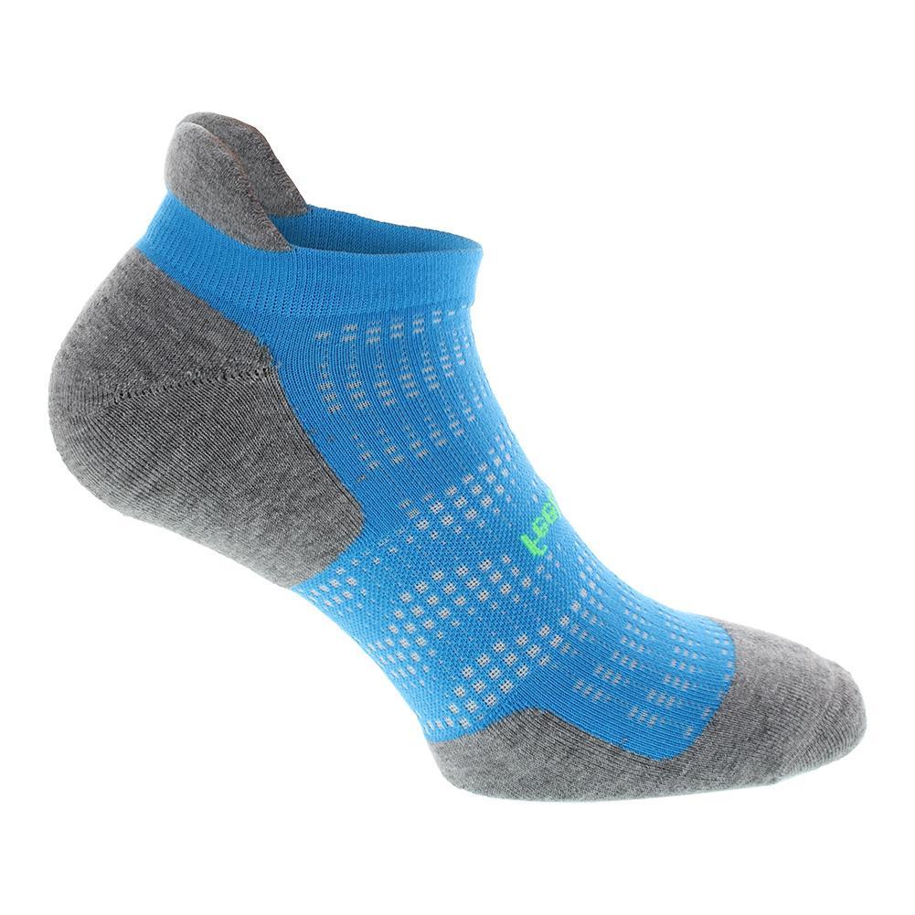 High Performance Cushion No Show Tab Tennis Socks Tropical Blue
