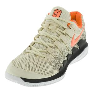 Juniors` Air Zoom Vapor 10 Tennis Shoes Light Cream and Bleached Aqua