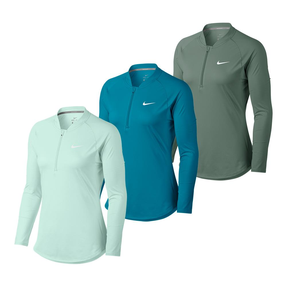 Women's Court Pure Long Sleeve Half Zip Tennis Top