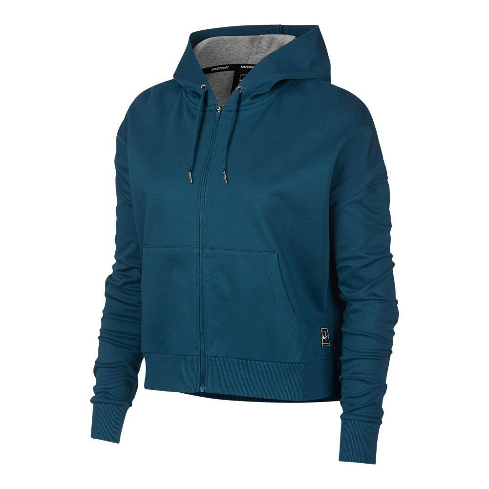 Women's Court Tennis Hoodie Blue Force