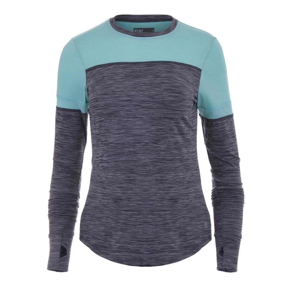 Women's Pacer Tennis Top Slate Gray And Sky Blue