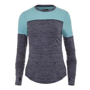 Women`s Pacer Tennis Top Slate Gray and Sky Blue