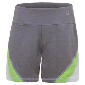Women`s Angle Tennis Short Frost Gray