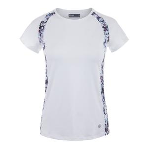 Women`s Vital Tennis Tee White and Monet Print