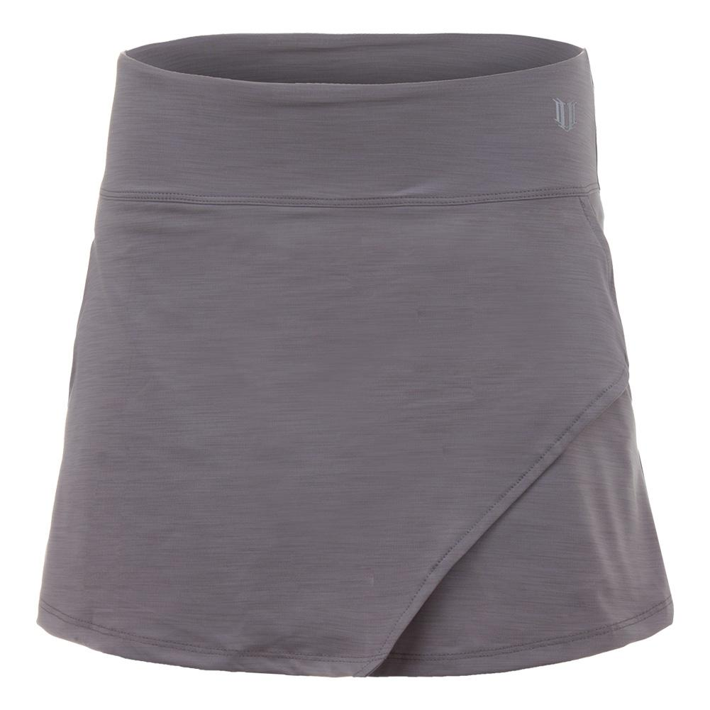 Women's Fly 14 Inch Tennis Skort Frost Gray