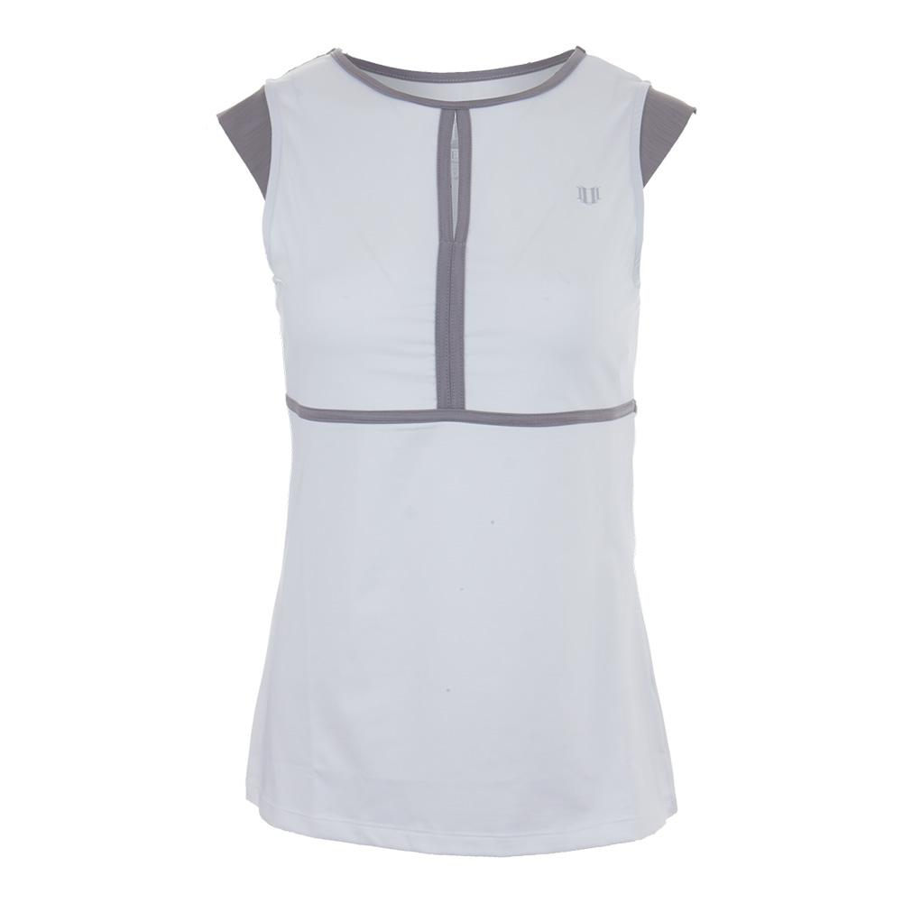 Women's Volley Cap Sleeve Tennis Top White
