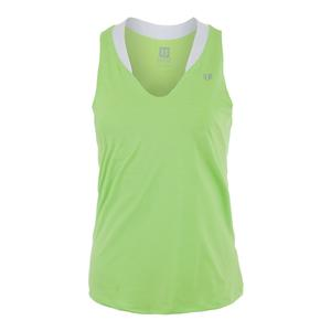 Women`s Love Tennis Tank Sharp Green