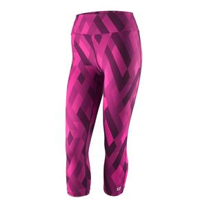 Women`s Printed Tennis Tight Very Berry