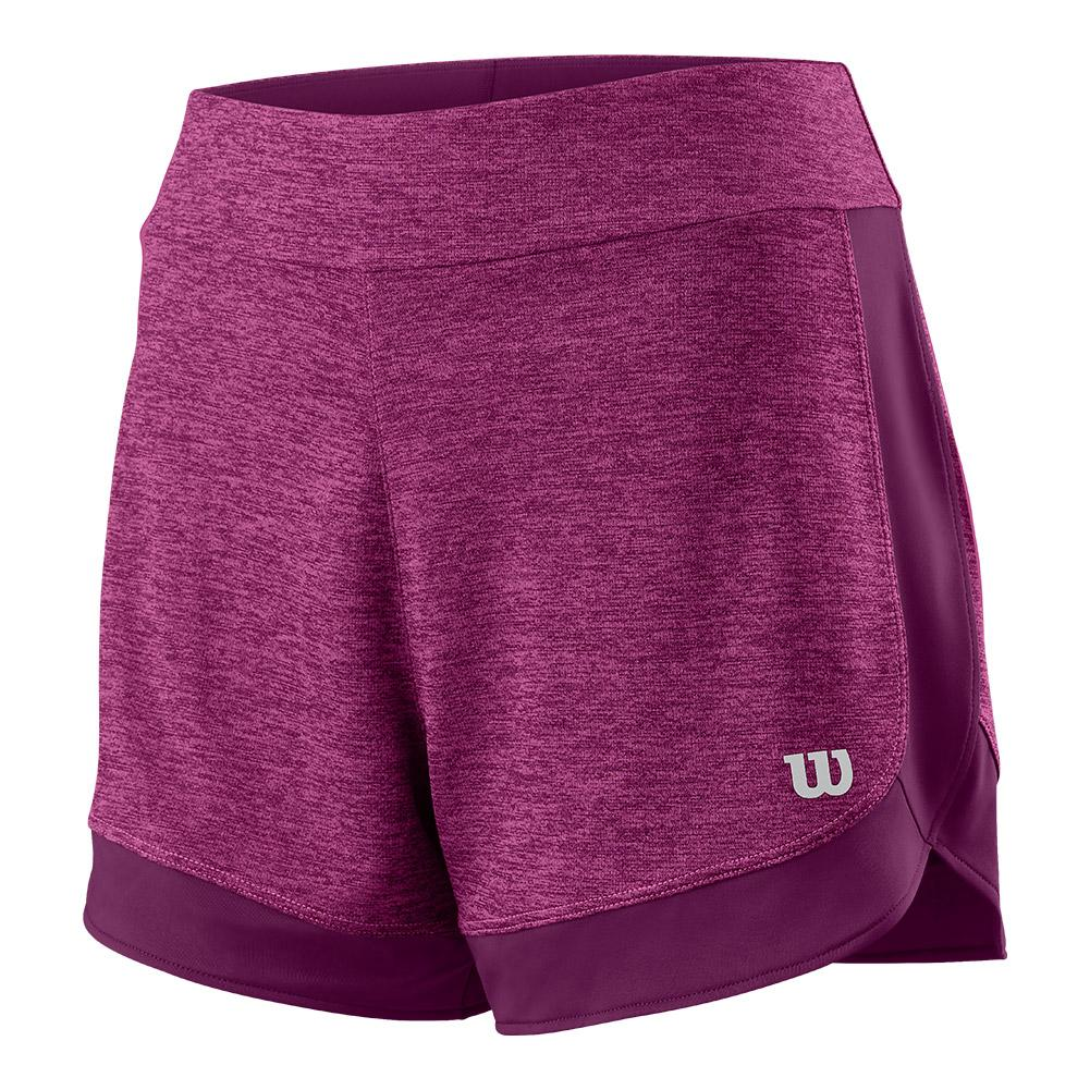 Women's Condition Knit 3.5 Inch Tennis Short Very Berry