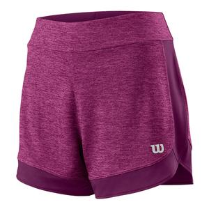 Women`s Condition Knit 3.5 Inch Tennis Short Very Berry