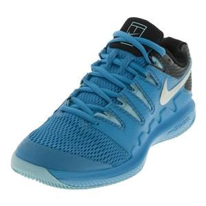 Juniors` Air Zoom Vapor 10 Tennis Shoes Green Abyss and Bleached Aqua