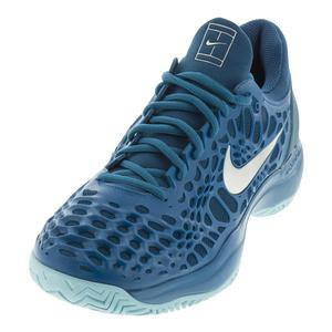Juniors` Zoom Cage 3 Tennis Shoes Green Abyss and Blue Force