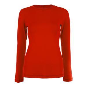 Women`s UV Long Sleeve Tennis Red