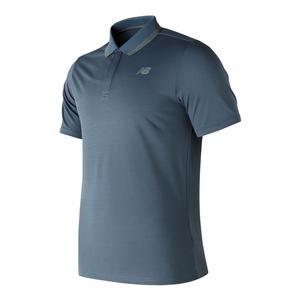 Men`s Rally Court Tennis Polo Deep Porcelain Blue