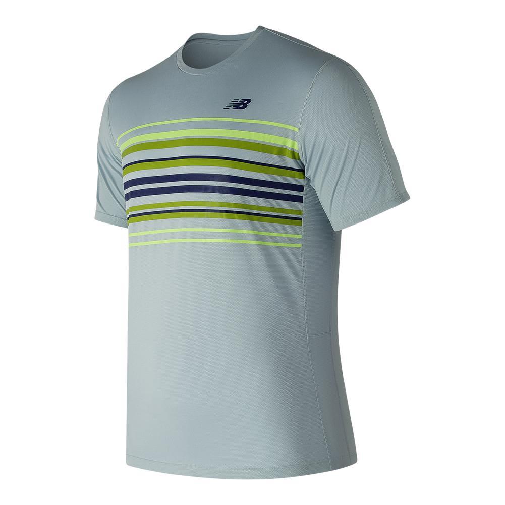 Men's Graphic Accelerate Tennis Crew Light Porcelain Blue