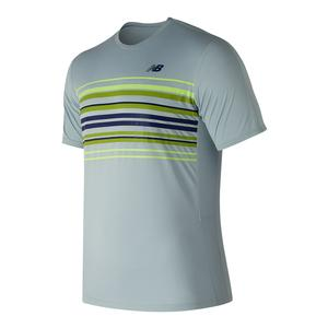 Men`s Graphic Accelerate Tennis Crew Light Porcelain Blue