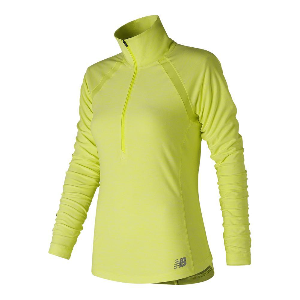 Women's Anticipate Half Zip Tennis Top Solar Yellow